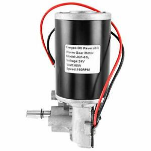 Dc24v 160rpm Reversible Worm Gear Motor Speed Reducing Electric Gearbox Motor