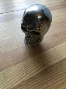 Vintage Chevy Ford Mopar Chrome Skull Gear Shift Knob