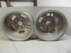 15x10 Us Indy Mags 6 Lug Chevrolet Chevy Truck Gasser C 10 1955 1957 1963 Rims