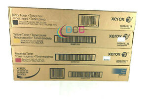 Genuine Xerox Docucolor Wc Toner Set Cmyk For 240 242 250 252 7655 7665 7675