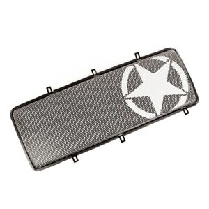 Rugged Ridge 12034 21 Spartan Grille Insert Military Star For 07 18 Jeep
