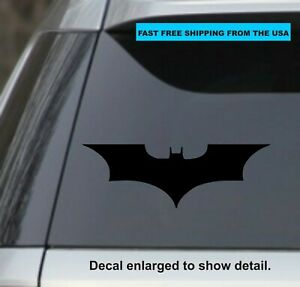 2 Black Batman Vinyl Sticker Decal For Car Truck Laptop Yeti Cup
