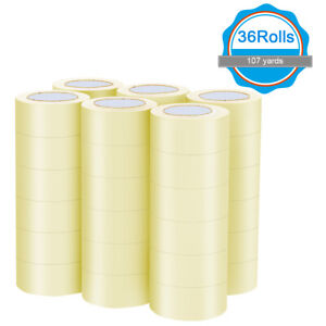 36 Rolls Clear Carton Box Shipping Package Tape 1 9 x110 Yards 330 Ft Home