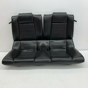 2005 2009 Oem Ford Mustang Coupe Gt Rear Black Leather Back Seats s5256