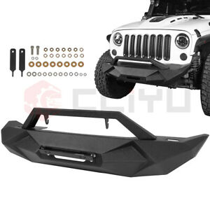 Steel Front Bumper For Jeep Wrangler Jk 2007 2018 Textured Guard Pickup