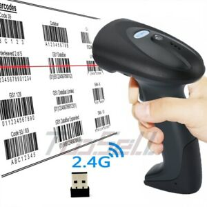 Wireless 2 4ghz Usb Barcode Scanner Handheld Laser With Receiver 656 Feet