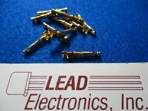 Qty 10 Amp 66360 1 Connector Socket Pin 14 18awg 30au Crimp Gold Free Shipping