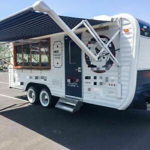 Vintage 1973 8 X 20 Yellowstone Camper Concession Trailer W 2019 Kitchen Fo