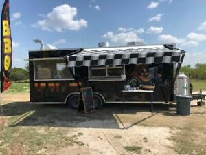 Fully Outfitted 22 2018 Barbecue Food Trailer With Enclosed Porch For Sale In T