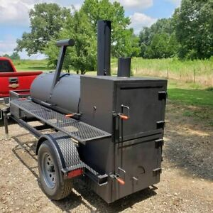 250 gallon 1 25 inch Reverse Flow Single Door Open Bbq Smoker Trailer For Sale I