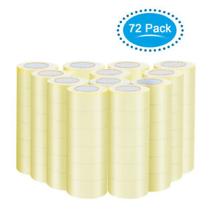 72 Rolls Clear Carton Box Shipping Package Tape 1 9 x110 Yards 330 Ft Home