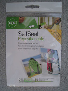 Gbc Self Seal Repositionable Photo size Laminating Pouches 5 Pack