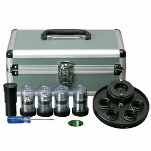 Amscope Pct Brightfield Phase Contrast Kit For Microscopes With Case
