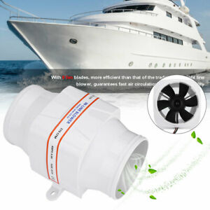 4 Line 12v Marine Boat Bilge Air Blower Fan Ventilation 270cfm Yacht Building