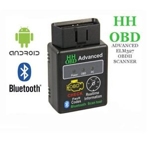 Elm327 Hh Obd Advanced Bluetooth V2 1 Obdii Car Diagnostic Scanner Tools
