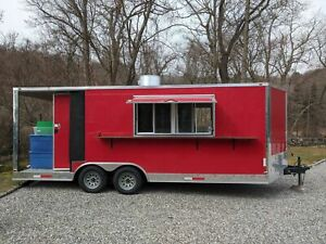 2018 Dual Axle Freedom 23 Kitchen Food Trailer With Porch For Sale In Connecti