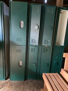 Tufftec Hdpe Plastic Commercial Lockers 6 Freestanding Sections 19555 delivery