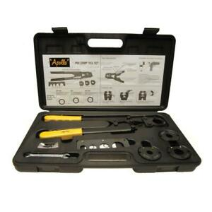 Apollo Multi head Pex Crimp Tool Kit Pipe Rings Tubing Crimper Plumbing Crimping