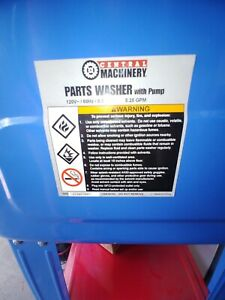 20 Gallon Mechanic Parts Washer Central Machinary New