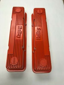 Holley Valve Covers 283 327 350 Chevy M T Corvette Impala Camaro Chevelle Gm C K