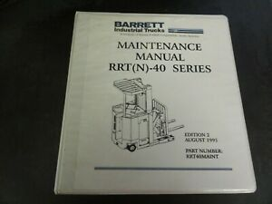 Barrett Industrial Trucks Nissan Rrt n 40 Series Forklift Maintenance Manual
