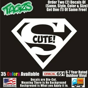 Superman Super Cute Funny Diecut Vinyl Window Decal Sticker Car Truck Suv Jdm