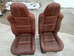08 09 10 Ford King Ranch Super Duty F250 F350 Leather Power Front Bucket Seats