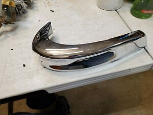 1955 Pontiac Rear Bumper Accessory Guard Curved End Passenger Side Used Oem