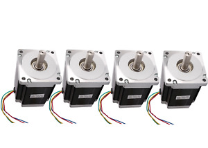 us Free Ship 4pcs 57bygh Nema34 Stepper Motor 1232oz 5 6a 4wires For Cnc Kits