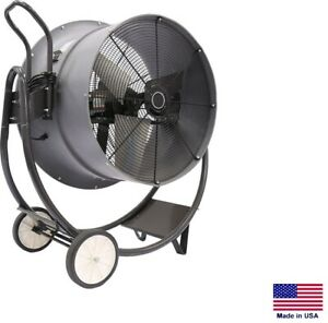 Drum Fan Commercial Dolly Mounted 30 1 2 Hp 115v 1 Phase 7 900 Cfm
