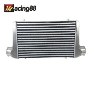 Aluminum Polished Intercooler 25 X12 X3 Inlet Outlet Ic Un002 300 T Fkd New