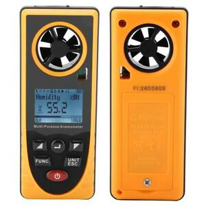 Lcd Digital Wind Speed Gauge Meter Anemometer Thermometer Temp Dew Point Tester