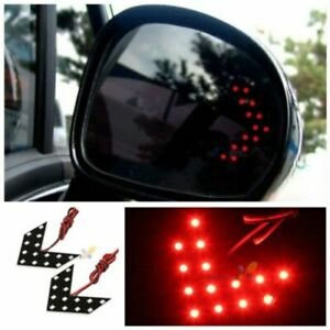 Car Side Mirror Turn Signal 14 smd Led Arrow Lights Blinker Retrofit Red 1 Pair