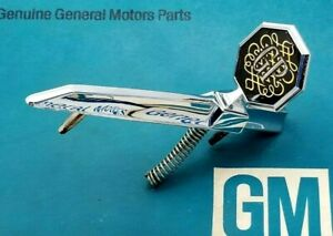Nos 1975 Pontiac Grand Prix Hood Ornament Header Panel Emblem 75 Oem Gm Trim