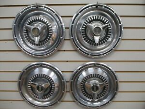 1965 Plymouth Belvedere Satalite Spinner Wheel Cover Hubcaps Oem Set 65