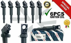 6 Pack Updated Ignition Coil W Connector Boot 0221504470 12138616153 0124 X3