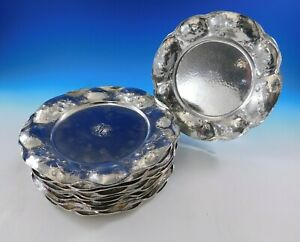 Martele By Gorham Sterling Silver Set Of 12 Charger Plates Witch Hazel 4662