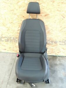 Mk6 Vw Jetta Gli Front Left Drivers Leather Cloth Seat Red Stitching As Is Rb8