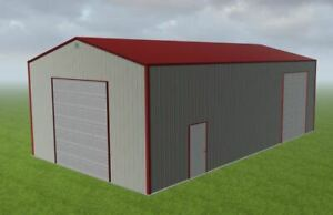 25x45x14 Steel Building Kit Simpson Metal Garage Workshop Prefab Structure