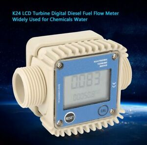New K24 Turbine Digital Diesel Fuel Flow Meter For Chemicals Liquid Water Blue