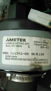 Ametek 116392 00 Vacuum Motor Removed From Working Steam washer