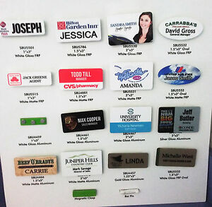 1 5 X3 Personalized Name Tag Badge Pin Customized Full Color Printing