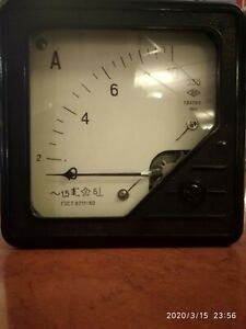 Vintage Analog Ammeter 0 10a From Laboratory Equipment 1968