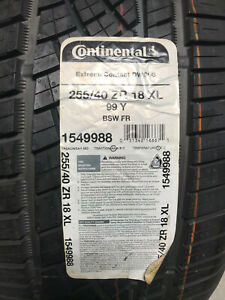 1 New 255 40 18 Continental Extreme Contact Dws06 Tire