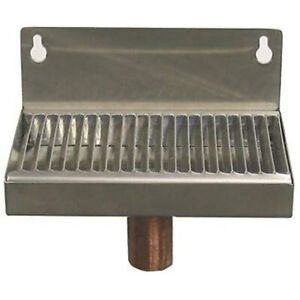 Beer Drip Tray 6 quot Stainless Steel Wall Mount W drain Kitchen amp Dining
