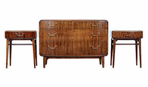 Mid 20th Century Mahogany 3 Piece Bedroom Suite By Smf Bodafors