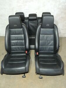 2012 Mk6 Vw Golf R Leather Seats Heated Front Rear Bench Set Factory Oem 005
