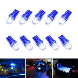 10 Blue 1 Led 168 175 194 2825 W5w T10 Led Bulbs For Car Interior Lights Etc