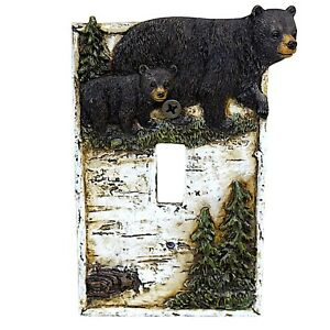 Bear on Birch Single Switch Cover Home Décor $12.99