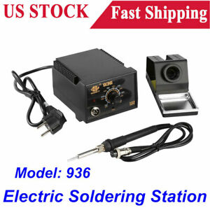 936 Adjustable Temperature Electric Soldering Station Kit W Iron Stand 110v Usa